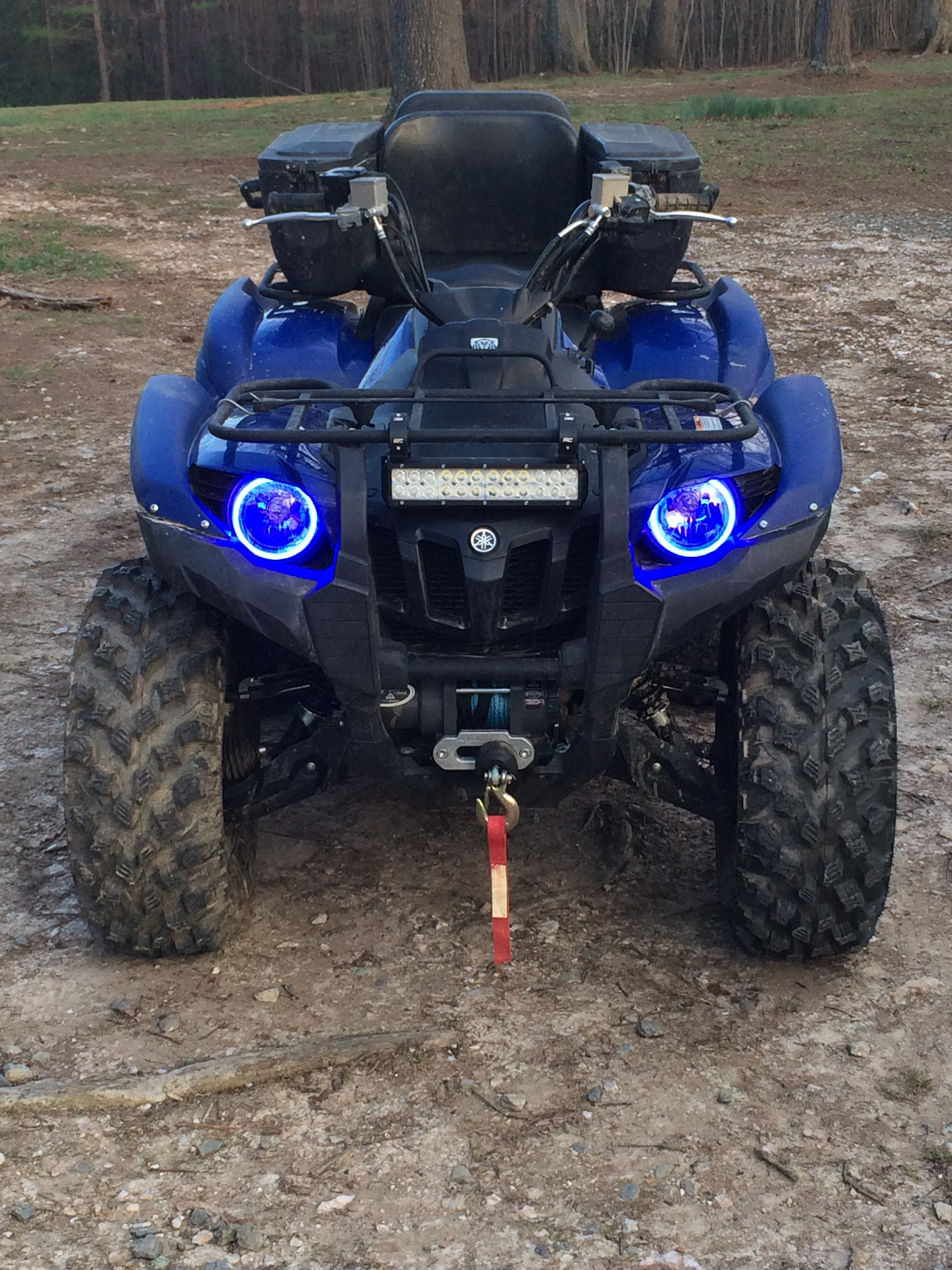 White also XMR s Can Am Outlander Gen 2 Halos rings lights set 4