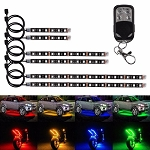 RGB can am  ATV Flexible Strip LED Light NEON Remote Kit polaris 6 pcs