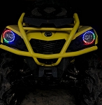 Can Am Halo Rings headlights Outlander 450 / 570 RGB LED multicolor chase bluetooth