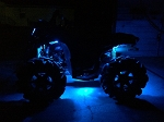 Led Rock Lights atv utv rzr Underbody Lights for Can am / outlander / Polaris rgb Bluetooth