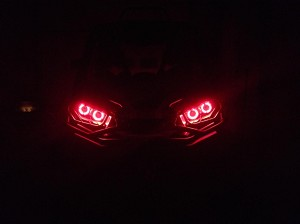Halo Rings for Headlights - LED angel eye set of 4 - Can-am Maverick and Commander