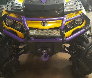LED light bar Can Am Outlander with Halo RGB patterns flash 13.5""