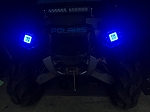 LED Head Light Pod Mount Brackets Polaris Sportsman 850 1000 RZR 800 900. With led Halos multi color chasing