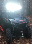 POLARIS RZR CURVED LED LIGHT BAR KIT XP1000 ALL & 2015 UP RZR 900 trail /900S
